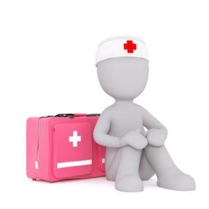 First Aid Helper Sitting
